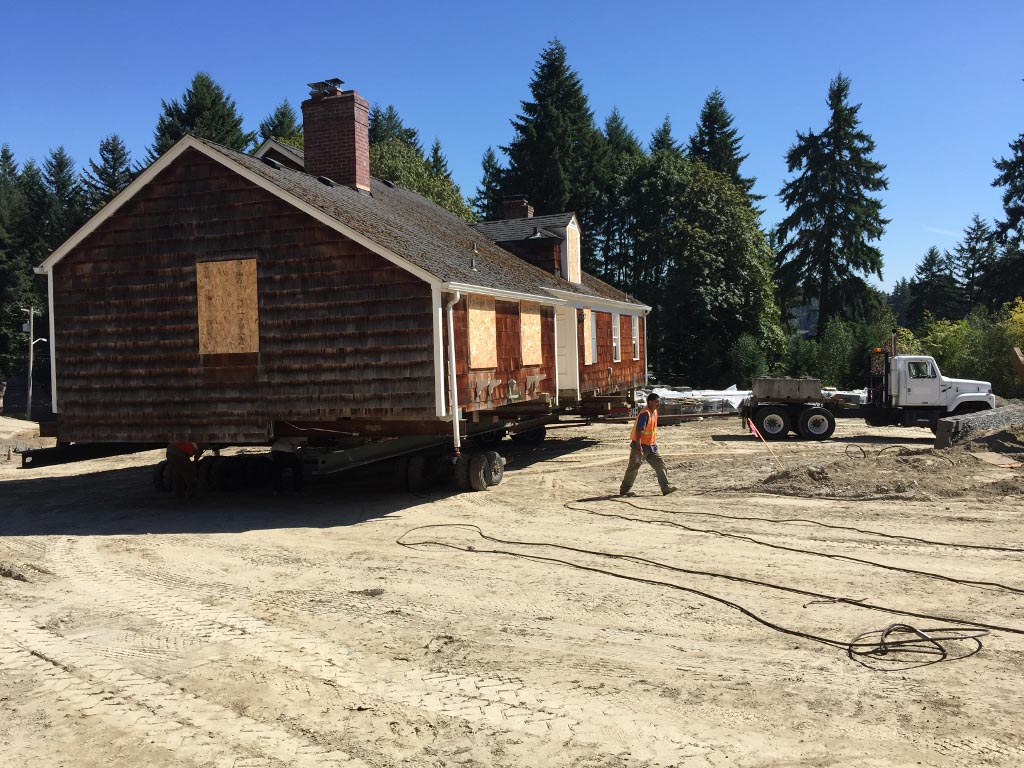 Bothell House up on Rollers